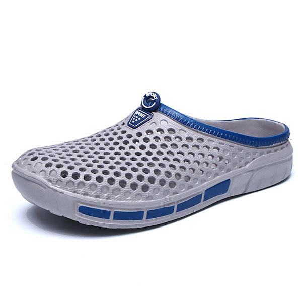 Обувь для тапочек для мужчин Пляжный На открытом воздухе Повседневные полые Сандалии
