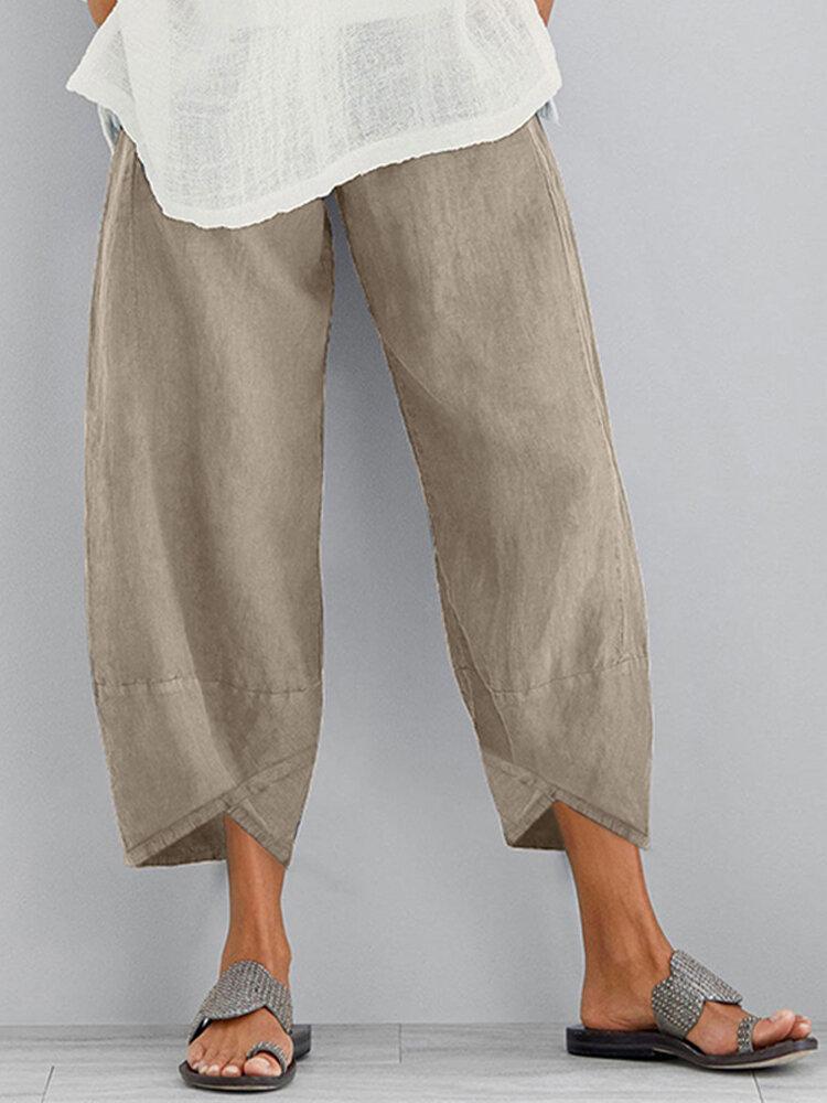 Женский однотонный эластичный пояс со свободным боковым карманом Брюки