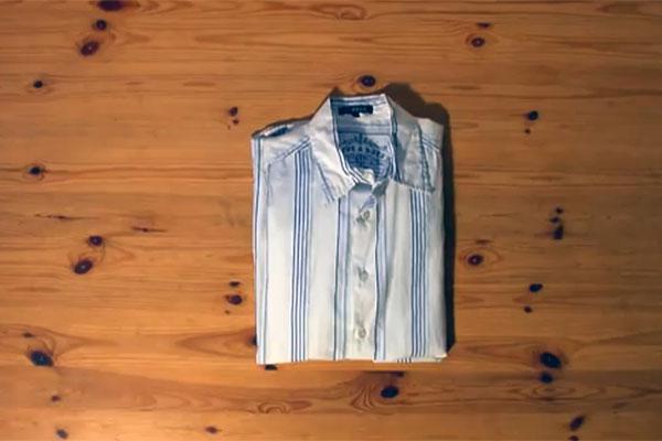 Складываем рубашку за 2 секунды